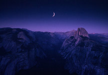 Moon Over Half Dome, Yosemite NP